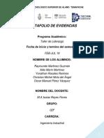 PORTAFOLIO DE TALLER DE LIDERAZGO