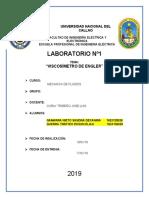 laboratorio de mecanica de fluidos FIEE UNAC