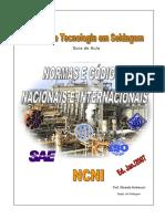Soldagem - Normas e Códigos Nacionais e Internacionais