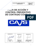 Plan de acción y control prevenivo covid-19