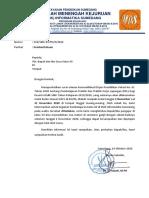Surat Pemberitahuan PKL untuk guru mapel XII