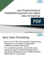 Java Programming (Basic Date Formatting)