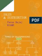 sales & distribution( a brief review) by Paras Bajaj