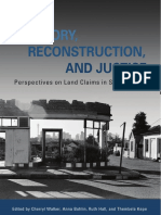 Land, Memory, Reconstruction and Justice