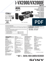 SONY DCR-VX2000 Service Manual Level 2
