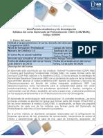 Syllabus de curso Diplomado de Profundización CISCO CCNA