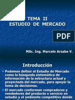 TEMA  II, Estudio de Mercado (1)