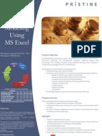 Pristine Financial Modeling Brochure