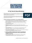 10 Top Tips for Social Marketing