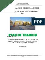 Memoria Descriptiva Plaza Pampa Baja