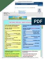 Ficha online de Past Simple Practice para Grade 6.pdf