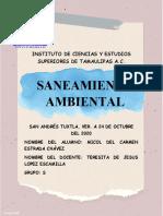 ACTIVIDAD 1 SANEAMIENTO AMBIENTAL