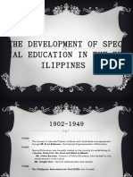History of SPED