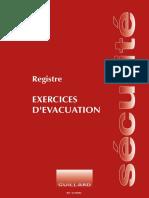 MODÈLE REGISTRE EXERCICES D'ÉVACUATION