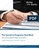 The Secret to Programs that Work