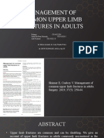 Management of Common Upper Limb Fractures in Adults