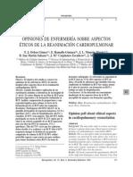 Enfermeria y Aspectos Eticos en RCP