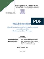 TEZA DE DOCTORAT-Dezvoltare teritoriala