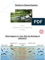 Water purification in streams