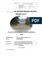 PLAN DE CONTINGENCIA MACHU PICCHU 2020