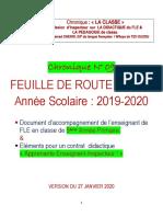 Chnoqiue LA CLASSE N° 09-FEUILLE DE ROUTE 5°AP - 2019-2020 - VERSION DU 27 JANVIER 2020