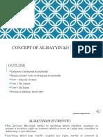 CONCEPT OF AL-BAYYINAH