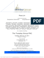 Reception for Tuesday Group PAC