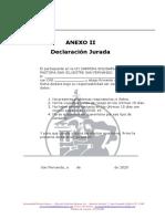 Anexo II Declaración Jurada
