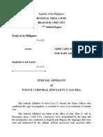 CLJ 4- JUDIAL AFFIDAVIT OF Rape (Art. 266-B, RPC) DACERA