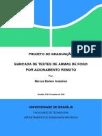 BANCADA DE TESTES DE ARMAS DE FOGO