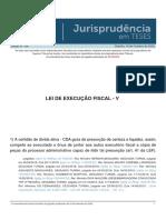 Jurisprudencia em Teses 158 - Lei de Execucao Fiscal - V