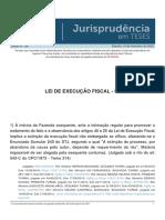 Jurisprudencia em Teses 156 - Lei de Execucao Fiscal - III