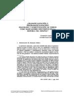Concepción Company - Gramaticalización o desgramaticalización. Reanálisis y subjetivización de verbos como marcadores discursivos en la historia del español