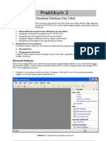 Praktikum 2 - Access - Membuat Database Dan Tabel