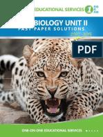 CAPE Biology Unit 2 Past Paper Solutions 2007-2015 Update (1)