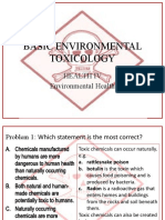 Basic Environmental Toxicology Problem Set PPT