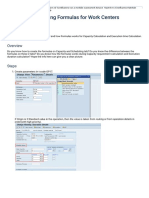 [TEST CASE]Creating Formulas for Work Centers - ERP Manufacturing (PP) - Community Wiki