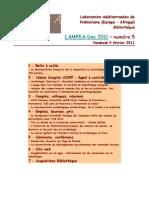LAMPEA-Doc 2011 - numéro 5 / Vendredi 4 février 2011