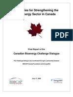 Bioenergy Challenge Dialogue - Final Report, July 2006