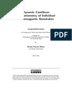 Dynamic Cantilever Magnetometry of Individual Ferromagnetic Nanotubes