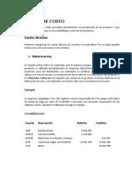CLASES DE COSTO