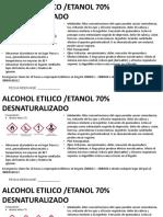 Etiqueta Alcohol
