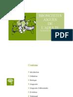 Bronchite aguë de l'adulte