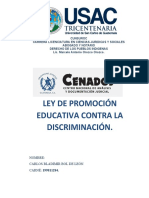 ANALISIS LEY DE PROMOCION EDUCATIVA CONTRA LA DISCRIMINACION