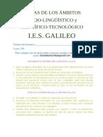 Ámbito sociolingüísitico y científico tecnológico 1ºD