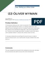 Oliver Wyman Wine Celler