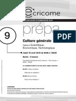 annales_ecricome_culture_generale_2019