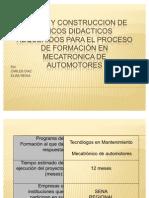 DISEÑO Y CONSTRUCCION DE BANCOS DIDACTICOS