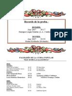 PALMARÉS DE LA CURSA POPULAR DE LA LLAGOSTA2010