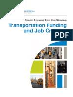 Smart Growth America report on transportation stimulus spending